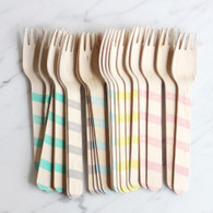 Sucre Shop Vintage Stripe Forks - Pack of 20