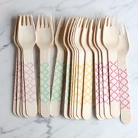 Sucre Shop Trellis Forks - Pack of 20
