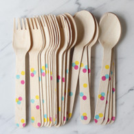 Sucre Shop Confetti Dots Spoons & Forks - Pack of 20