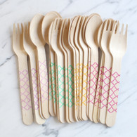 Sucre Shop Trellis Spoons & Forks - Pack of 20