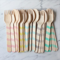 Sucre Shop Vintage Stripe Spoons & Forks - Pack of 20