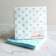 Sambellina Blue Dot Reversible Napkins - Pack of 20