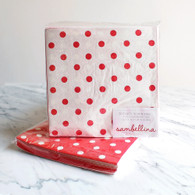 Sambellina Red Dot Reversible Napkins - Pack of 20
