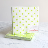 Sambellina Lime Dot Reversible Napkins - Pack of 20