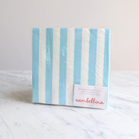 Sambellina Blue Stripe Napkins - Pack of 20