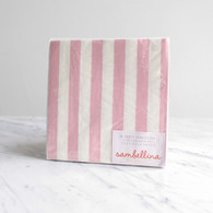 Sambellina Pink Stripe Napkins - Pack of 20