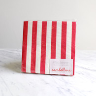 Sambellina Red Stripe Napkins - Pack of 20