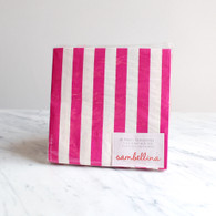 Sambellina Rapsberry Stripe Napkins - Pack of 20