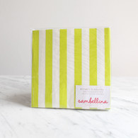 Sambellina Lime Stripe Napkins - Pack of 20