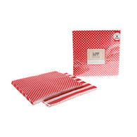 hiPP Red Polka Dot Reversible Napkins - Pack of 20