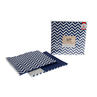 hiPP Navy Chevron Reversible Napkins - Pack of 20