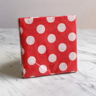 Red Polka Dot Cocktail Napkins - Pack of 16