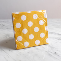 Yellow Polka Dot Cocktail Napkins - Pack of 16