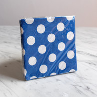 Blue Polka Dot Cocktail Napkins - Pack of 16