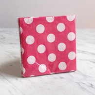 Pink Polka Dot Cocktail Napkins - Pack of 16