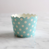 Blue Dotty Baking Cups - Pack of 25