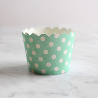 Mint Dotty Baking Cups - Pack of 25