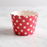 Red Dotty Baking Cups - Pack of 25
