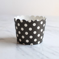 Black Dotty Baking Cups - Pack of 25