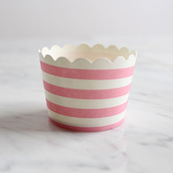 Pink Stripe Baking Cups - Pack of 25