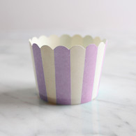 Lavender Stripe Baking Cups - Pack of 25