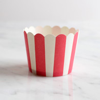Red Stripe Baking Cups - Pack of 25