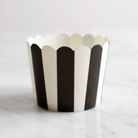 Black Stripe Baking Cups - Pack of 25