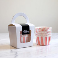 Peach Stripe Candy Cups - Pack of 12