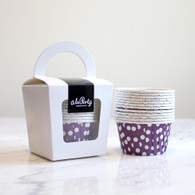 Purple Polka Dot Candy Cups - Pack of 12