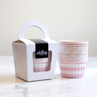 Baby Pink Stripe Candy Cups - Pack of 12
