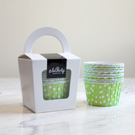 Spring Green Polka Dot Candy Cups - Pack of 12