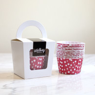 Strawberry Red Polka Dot Candy Cups - Pack of 12