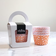Orange Polka Dot Candy Cups - Pack of 12