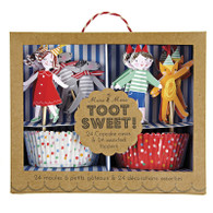 Meri Meri Toot Sweet Cupcake Kit - Pack of 24