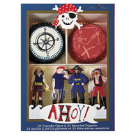 Meri Meri Ahoy There Pirate Cupcake Kit - Pack of 24
