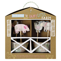 Meri Meri Happy Little Farm Cupcake Kit - Pack of 24