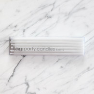 Tag USA White Party Taper Candles - Pack of 12