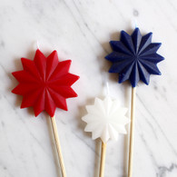 Tag USA Starburst Candles - Pack of 3