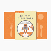 Hello Hanna Get Set Placemat, Robot - Pack of 8