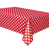 Red Polka Dot Plastic Table Covers
