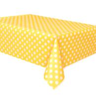 Yellow Polka Dot Plastic Table Covers