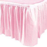Pastel Pink Table Skirt