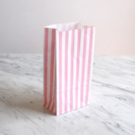 Pink Stripe Treat Bags - Pack of 10
