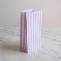 Lavender Stripe Treat Bags - Pack of 10
