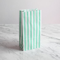 Mint Stripe Treat Bags - Pack of 10