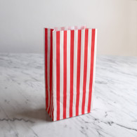 Red Stripe Treat Bags - Pack of 10