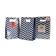 hiPP Navy Chevron Treat Bag & Seal Set - Pack of 12