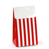Sambellina Red Stripe Treat Boxes - Pack of 12