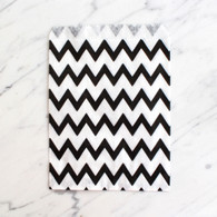 Black Chevron 13x18cm Treat Bags - 6 pack