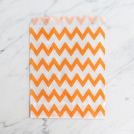 Orange Chevron 13x18cm Treat Bags - 6 pack